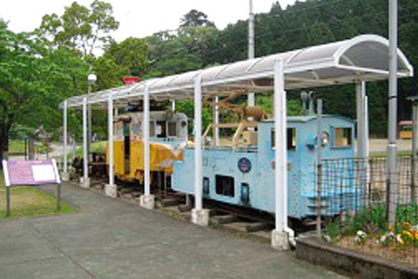 「いこいの家」前に展示してある当時の電車