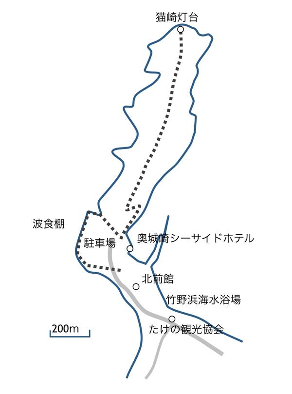 猫崎半島マップ