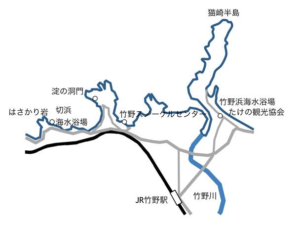 竹野付近図マップ